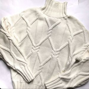 J. Crew Collection Cable Knit Mockneck Sweater NWT